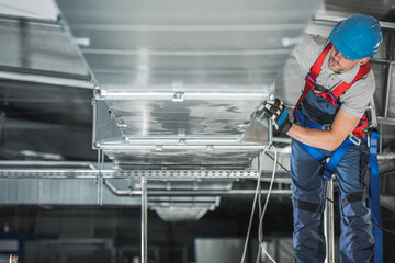 Warehouse Heating and Cooling System Installation