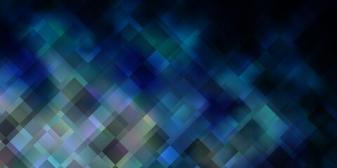 Dark BLUE vector pattern in square style.