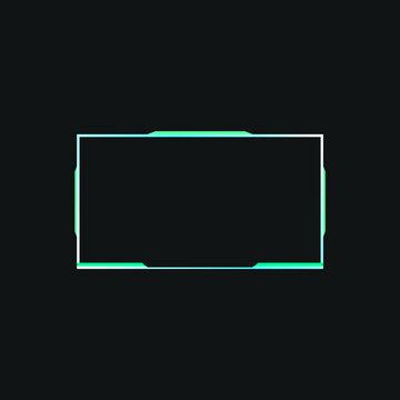 Esports streaming facecam panel design - VECTOR