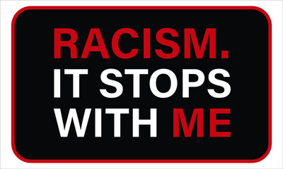 Words of support for anti racism sign