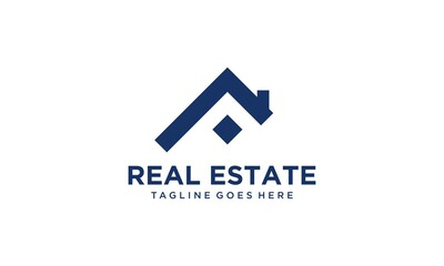 Creative and modern home for real estate and building logo design vector editable