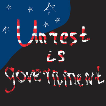 Anti government protest banner. Unrest reason concept. Vector illustration.