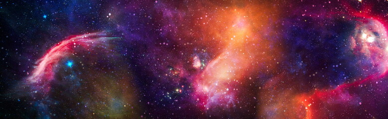 star particle motion on black background, starlight nebula in galaxy at universe Space background. The elements of this image furnished by NASA.