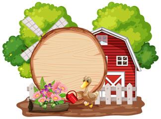 Farm theme background with farm animals