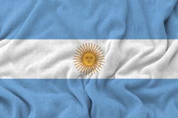 Papiers peints Amérique du Sud Fabric weave texture national flag of Argentina.