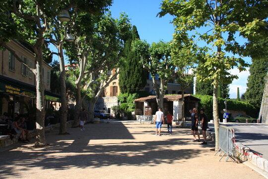 la place des boulistes à Saint-Paul de Vence