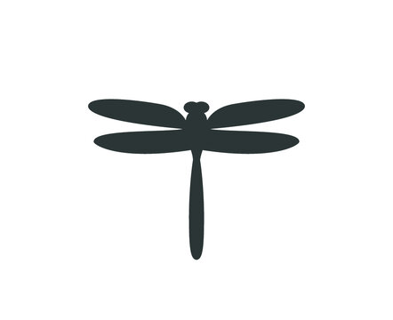 Dragonfly icon.  Isolated dragonfly illustration.