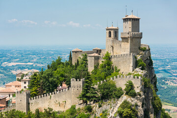 Guaita Tower above the Republic of San Marino