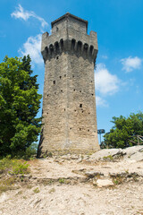 Montale Tower above the Republic of San Marino