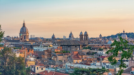 Fototapete - The city of Rome in the afternoon