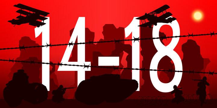 14-18 Première Guerre Mondiale Rouge