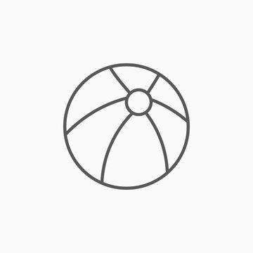 beach ball icon, ball vector