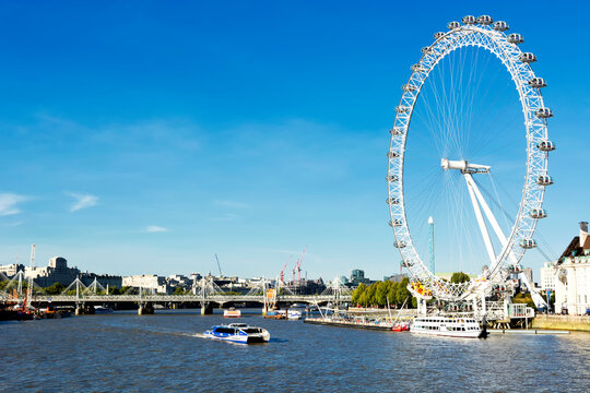 London eye and river Thames in 17. September 2018, London ( UK )