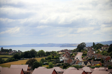 Exmouth town and sea view