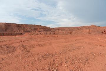 Papiers peints Desert de sable Gobi desert mud surface horizon landscape