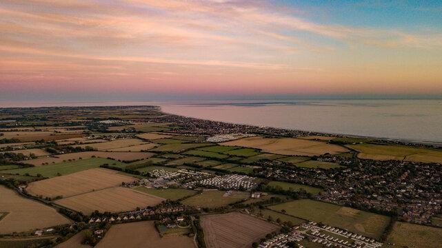 West Wiittering Aerial Dusk Sunset