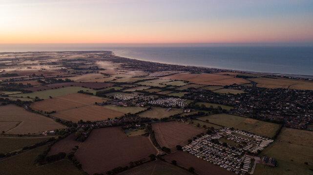 West Wiittering Aerial Dawn Sunrise