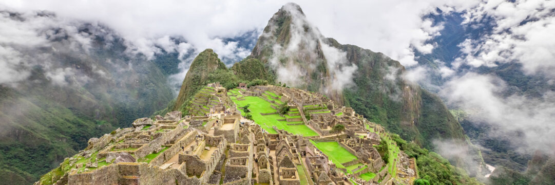 Machu Picchu, a Peruvian Historical Sanctuary and a UNESCO World Heritage Site. One of the New Seven Wonders of the World
