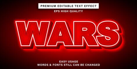 Wall Mural - text effect wars