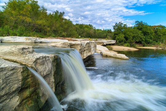 The Lower Falls at McKinney Falls State park in Austin, Texas, USA.