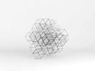 Abstract high-tech installation, 3 d art Fotoväggar