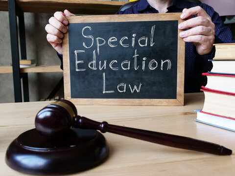 Special Education Law is shown on the conceptual business photo