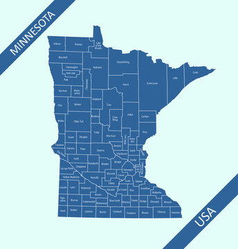 County map of Minnesota labeled