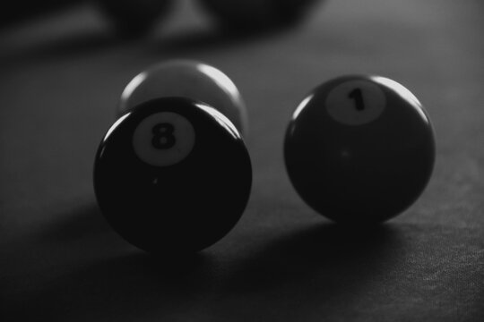 Billiard balls and sunlight reflection