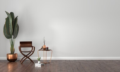 luxury modern living room interior, 3d rendering.