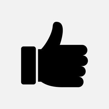 Thumb up gesture, like icon