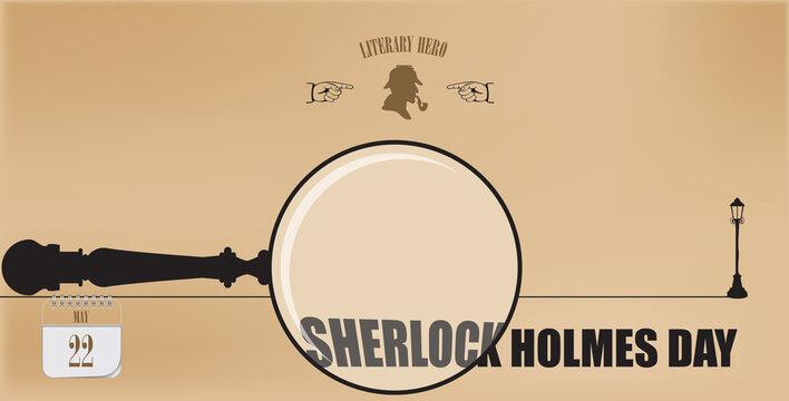 Postcard Sherlock Holmes Day