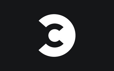 CC or C Letter Initial Logo Design, Vector Template