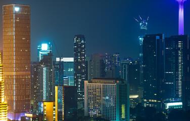 Fotomurales - Beautiful Kuala Lumpur skyscraper building