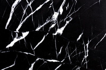 Tuinposter Marmer Natural marble background in adorable black and white colors.