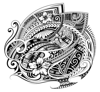 Polynesian style ornament as a print design or fabric