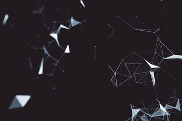 Fotobehang - Creative dark polygonal background.