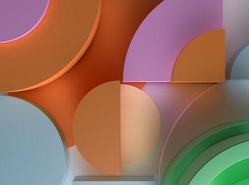 colourfull wall art 3d illustration