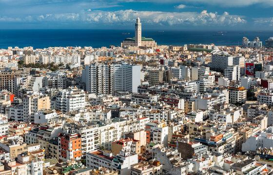 Skyline of Casablanca, Morocco.