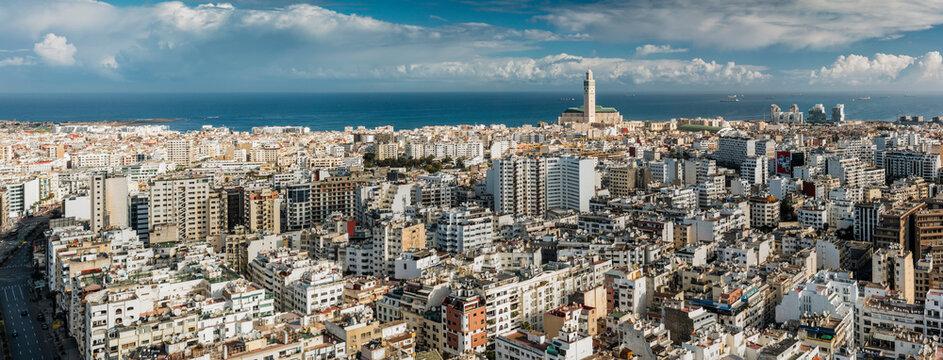 Panoramic view of Casablanca skyline.