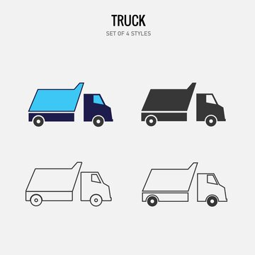truck vector icon transport cargo truck
