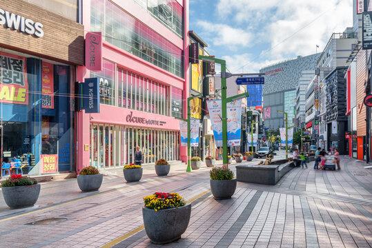 Morning view of Gwangbokro Cultural and Fashion Street, Busan