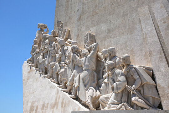 Padrao dos Descobrimentos or Monument of the Discoveries; monument on the northern bank of the Tagus River estuary, Santa Maria de Belém, Lisbon.