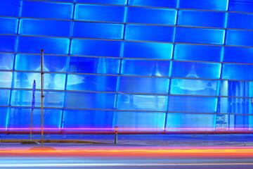 Obraz Błękit Abstrakt technologia smuga, iskra, - fototapety do salonu