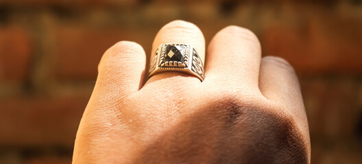 Beautiful picture of ring on the finger.