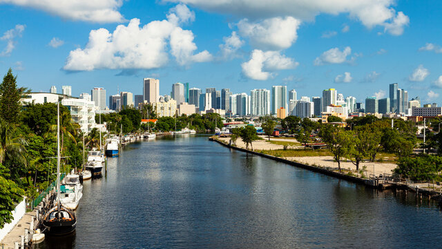 Miami River Skyline