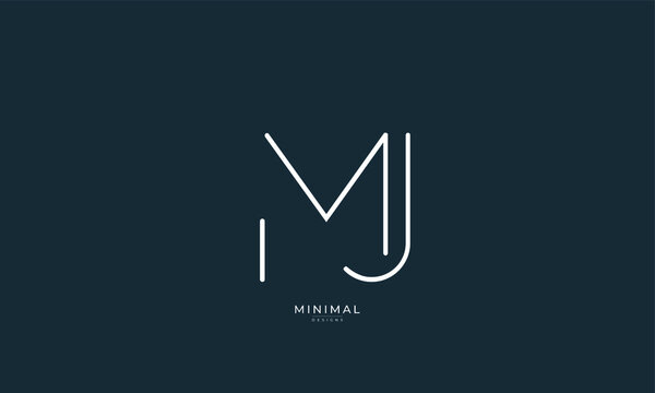 Alphabet letter icon logo MJ