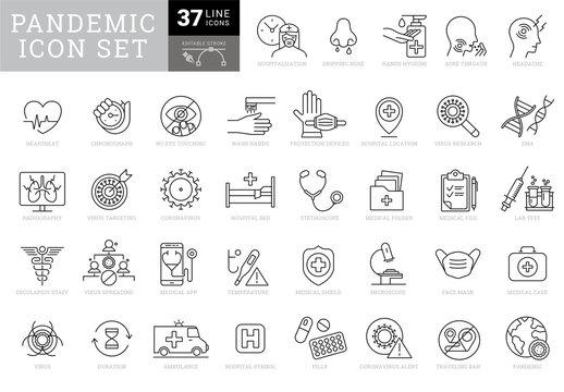 Pandemic Icons Set