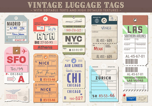 Luggage Tags Layouts