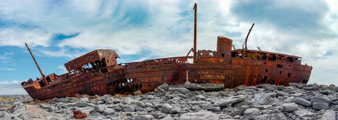 plassey shipwreck in ireland - ultrawide