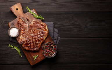Wall Murals Steakhouse T-bone grilled beef steak